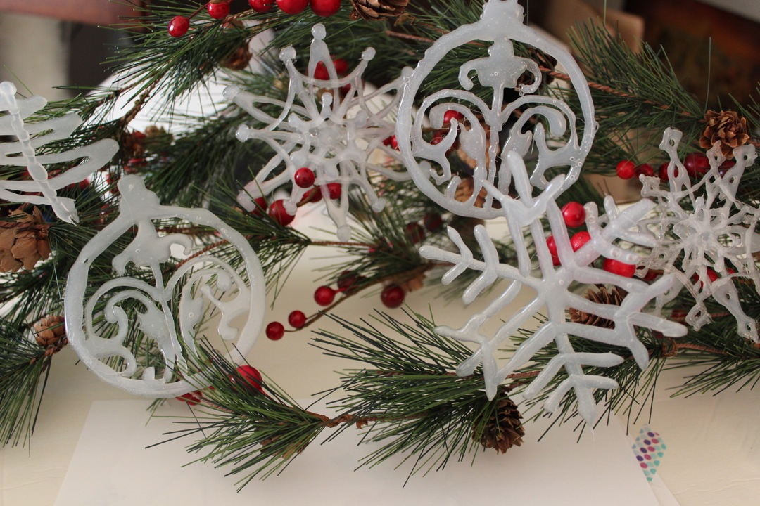 practice clear ornaments